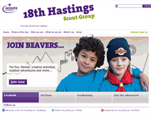 Tablet Preview of 18thhastingsscouts.org.uk
